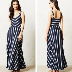 Anthropologie Puella Tasmin Maxi Dress striped